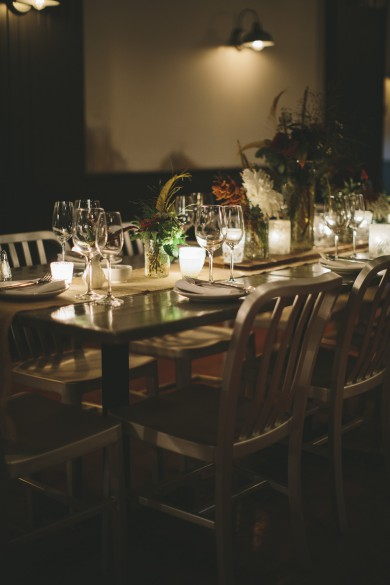 Large Table with Candle Light