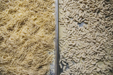 Raw Spaghetti and Cavatelli