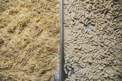 Raw Spaghetti and Cavatelli