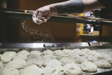 Flouring Pizza Dough